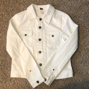 JCrew White Denim Jacket!